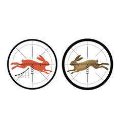 Hunting icon reticle crosshair target symbol vector