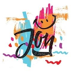 Joy calligraphy lettering vector