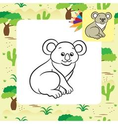 koala coloring page vector image