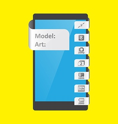 label feature for smartphone vector image