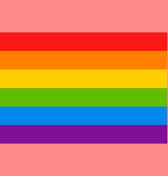lgbt flag pride flag gay and lesbian vector image