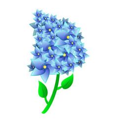 Lilac icon cartoon style vector