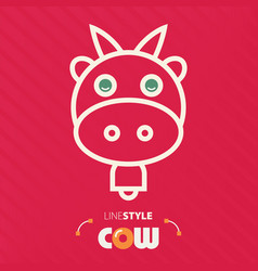 Line style cow vector