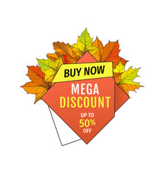 mega discount on thanksgiving day exclusive offer vector image