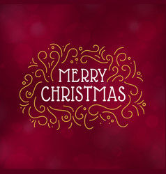 merry christmas typography design vector image