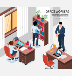 Office workers isometric vector