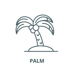 palm line icon linear concept outline vector image