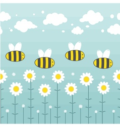 pattern apiary vector image