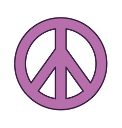 Peace symbol isolated icon vector