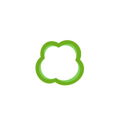Pepper slice icon vector