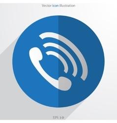 Phone handse web flat icon vector