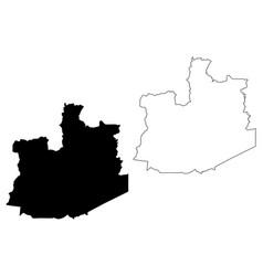 Phra nakhon si ayutthaya province map vector