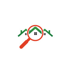 real estate house finder logo template vector image