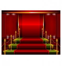 Red pedestal vector