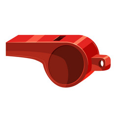 Red sport whistle icon cartoon style vector