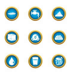 reviver icons set flat style vector image