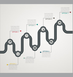 Road infographic timeline stepwise structure vector
