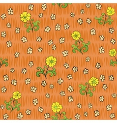 seamless flowers background vector image