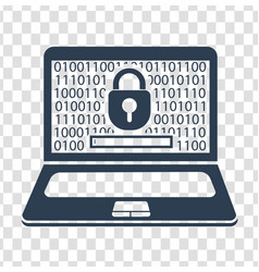 silhouette laptop security vector image