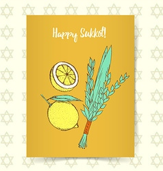 Sketch Sukkot poster vector