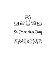 st patricks day badge vector image