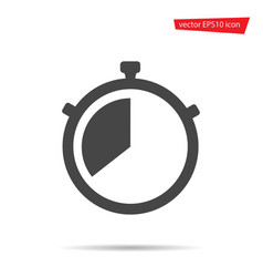 stop watch icon stopwatch timer isolated vector image