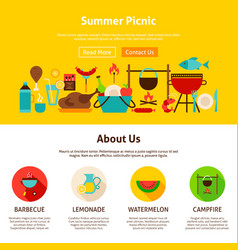 summer picnic web design vector image