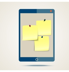 tablet and stickers vector image