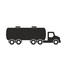 tanker truck icon vector image