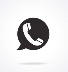 Telephone hotline icon vector
