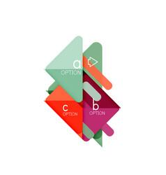 Triangle data visualization design option vector
