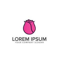 Tulips flower logo design concept template vector