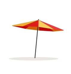 Umbrella beach isolated on vector image
