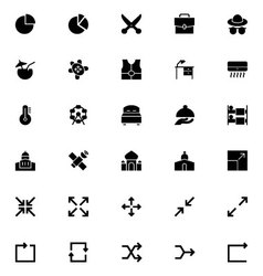 Universal Mobile Line Icons 11 vector