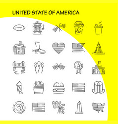 Usa hand drawn icon pack for designers and vector