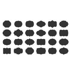 vintage blank frames retro empty badge label set vector image