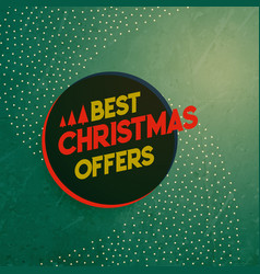 Vintage christmas sale and offers background vector