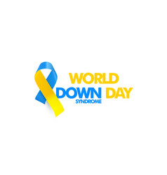 World down syndrome day genetic disorder 21 vector