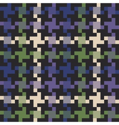 checkmulti colored houndstooth fabric vector image
