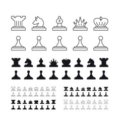 chess set on white background vector image vector image