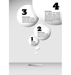 Infographics with growing flying balls vector image