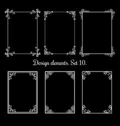 calligraphic floral frames vintage vector image