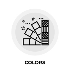 Colors Line Icon vector image