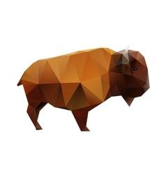 Polygonal Buffalo vector image vector image