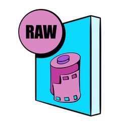 raw file icon cartoon vector image vector image