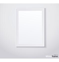 Stylish white photoframe vector image
