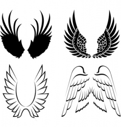 wings elements for design illustration vector image vector image