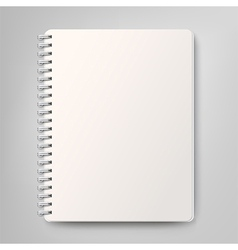 Blank realistic spiral notebook isolated on white vector image
