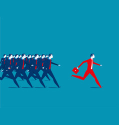 business people running vector image