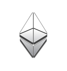 ethereum coin trendy 3d style icon vector image vector image
